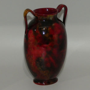 Royal Doulton Flambe Mottled colour 2 handle vase (#1)