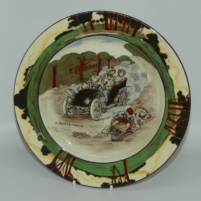 Royal Doulton Early Motoring plate D2406 A Nerve Tonic