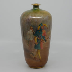 Doulton Burslem Touchstone Shakespeare As you Like It hand painted vase (W Nunn)