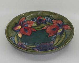 Walter Moorcroft Orchid (Green) large shallow bowl
