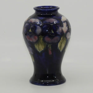William Moorcroft Pansy bulbous vase