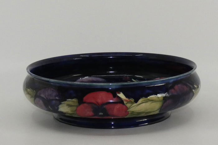 William Moorcroft Pansy 252 float bowl