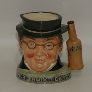 D- Royal Doulton small character jug Mr Pickwick | Pick Kwik Derby Whisky