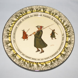 Royal Doulton Izaak Walton Gallant Fishers smaller plate: Of recreation/O the Gallant