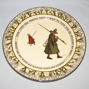 Royal Doulton Izaak Walton Gallant Fishers smaller plate: Timrous trout/Perch or Pike