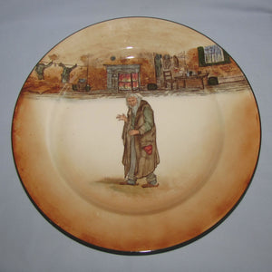 Royal Doulton Dickens Fagin round rack plate