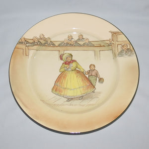Royal Doulton Dickens Mrs Bardell rack plate D2973