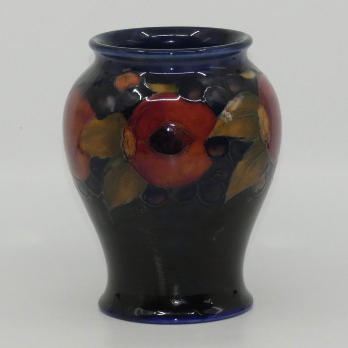 William Moorcroft Pomegranate bulbous vase (Open Pomegranate; c1928-1945)