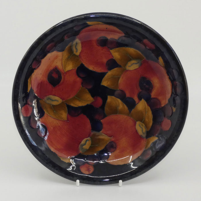 William Moorcroft Pomegranate shallow bowl #2 (2 Open Pomegranates)