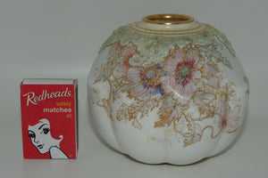 Doulton Burslem hand painted and gilt Poppies ball vase