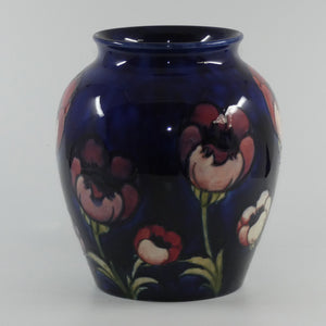 William Moorcroft Poppies large bulbous vase (Large Poppies, High & Low flowers)
