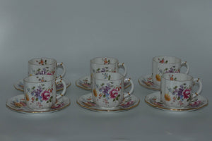 Royal Crown Derby Derby Posies set of 6 duos
