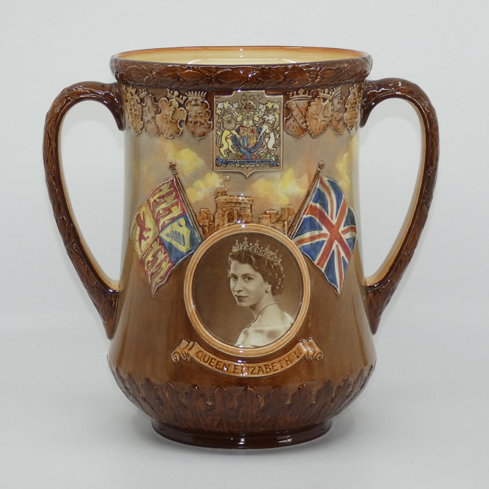 Royal Doulton Queen Elizabeth II Coronation Loving Cup