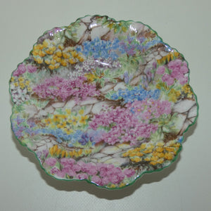 Shelley Dainty Pin Dish | Rock Garden pattern | Green trim