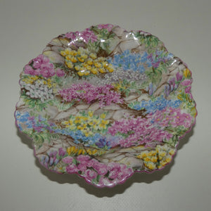 Shelley Dainty Pin Dish | Rock Garden pattern | Pink trim