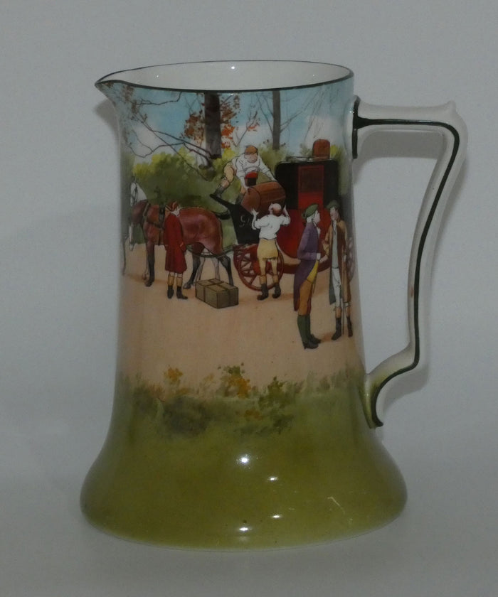 Royal Doulton Coaching Days Blue Sky variation (Red Door) Rocket jug E2768