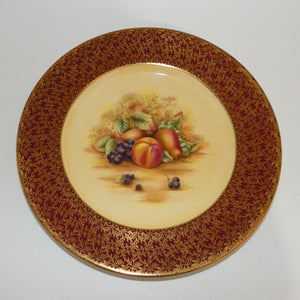 Aynsley Fruit Orchard Gold gilt rouge border plate
