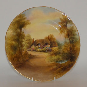 Royal Worcester hand painted Cottage plate (Rushton, Ripple)