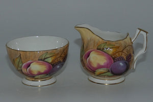 Aynsley Fruit Orchard Gold sugar and creamer N Brunt