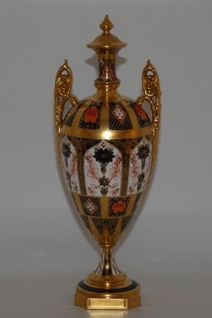 Royal Crown Derby Old Imari Solid Gold Band Vase
