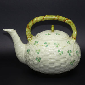 Belleek Shamrock large tea kettle