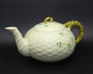 Belleek Shamrock large tea pot