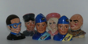 Beswick Thunderbirds set of 6 busts (Ltd Ed)
