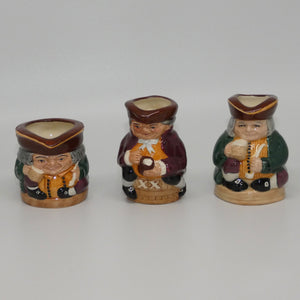 D6974- D6979 Royal Doulton toby jug Tiny Tobies set (Ltd Ed)