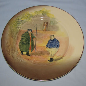 Royal Doulton Dickens Tony Weller low relief round plate D5833