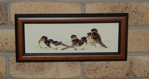 Moorcroft Tree Sparrows PLQ3 plaque (Num Ed)
