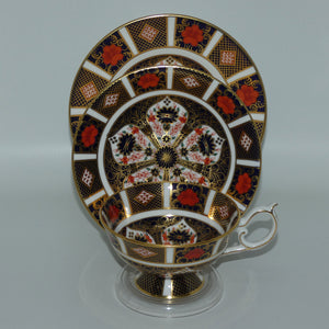 Royal Crown Derby Old Imari trio c.1992