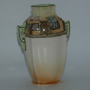 Royal Doulton Dickens Trotty Veck double handled unusual shape vase