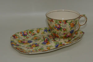 Royal Winton Evesham Chintz tv cup and saucer