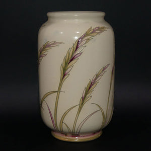 William Moorcroft Waving Corn cylindrical shape salt glaze vase