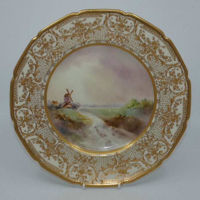 Royal Doulton hand painted Windmill and Countryside plate