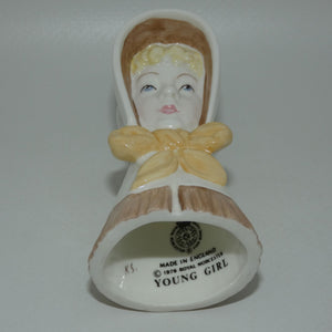 Royal Worcester candle snuffer Young Girl