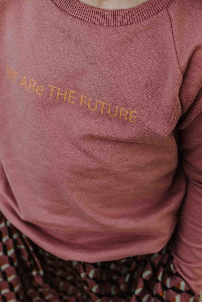 Little Hedonist WE ARe THE FUTURE Sweater - Burlwood