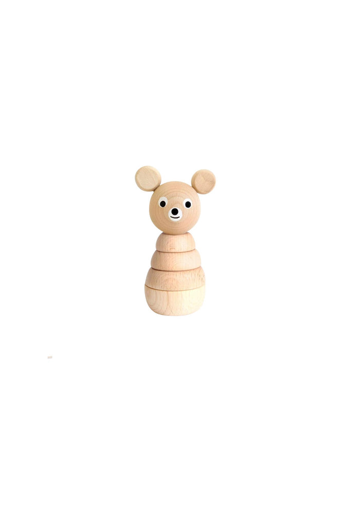 Benedict - Natural Wooden Stacking Bear