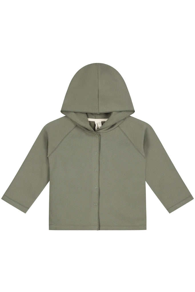 Gray Label Relaxed Hooded Cardigan - Moss