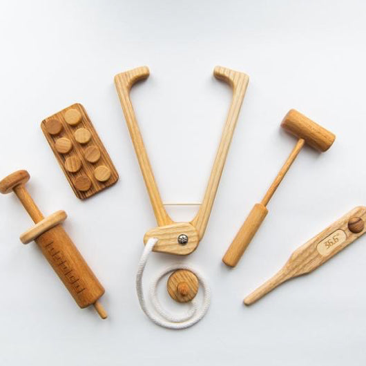 Mini Wooden Doctors Set