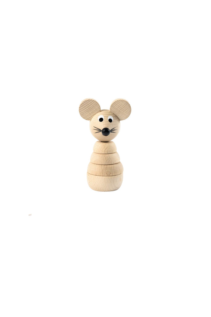Gilbert - Wooden Stacking Mouse Toy