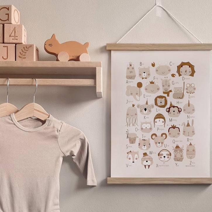 Paper & Bean ABC Nursery Print