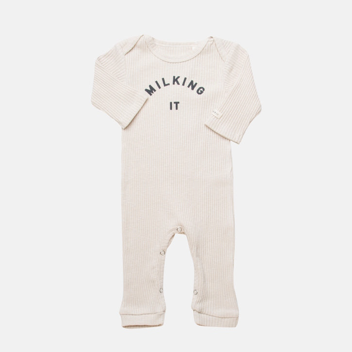 Claude & Co 'Milking It'® Sleepsuit - Oat