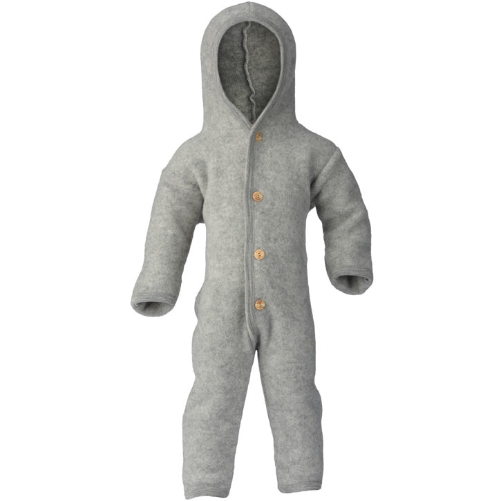 ENGEL Organic Merino Wool Fleece Suit - Light Grey Mélange