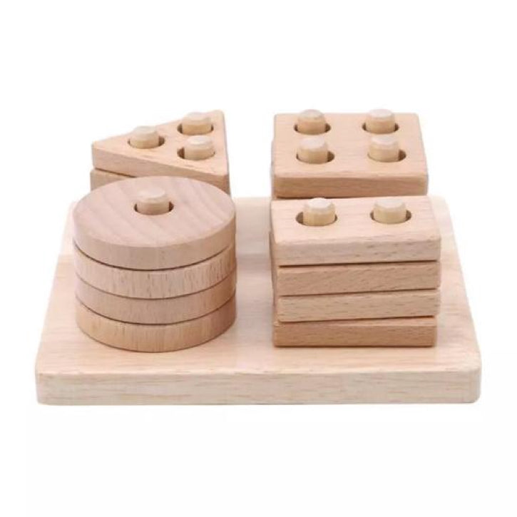 Lion + Lamb Wooden Shape Sorter