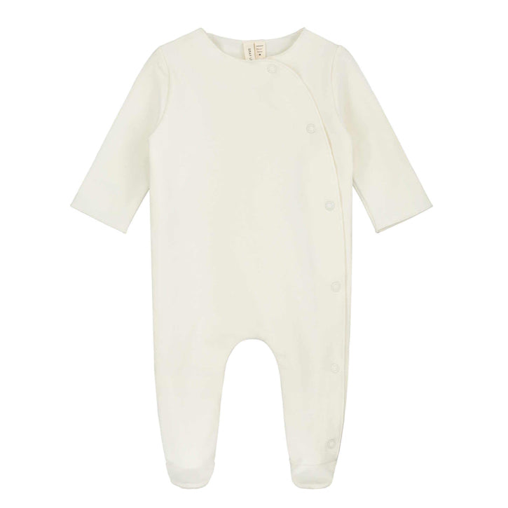 Gray Label Newborn Suit with Snaps - Cream