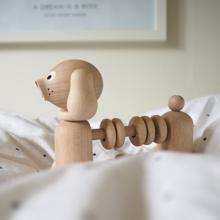 Bartholomew - Natural Wooden Dog