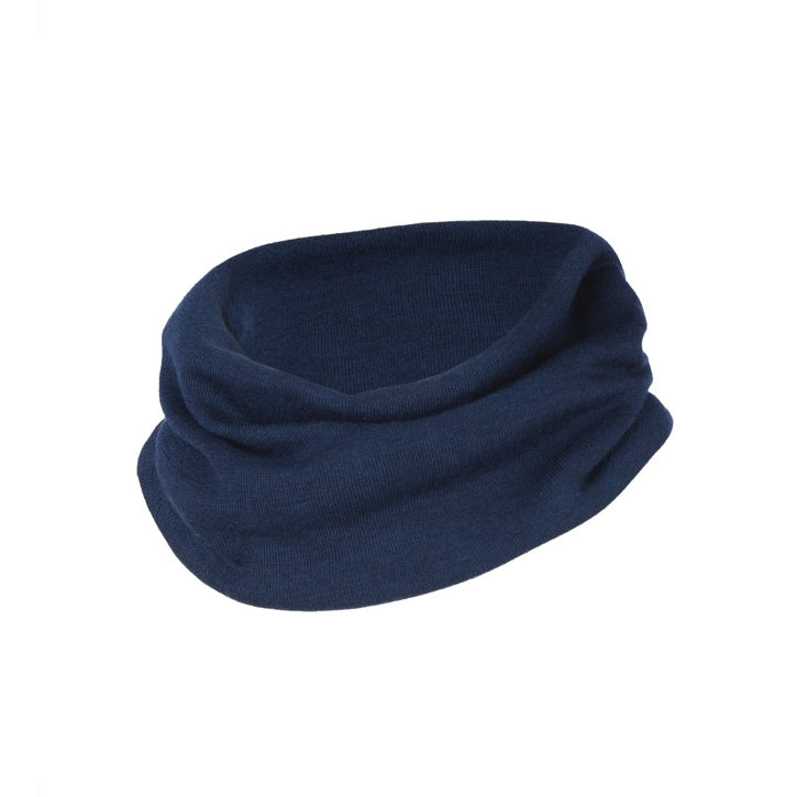ENGEL Organic Silk & Merino Loop Scarf - Navy Blue