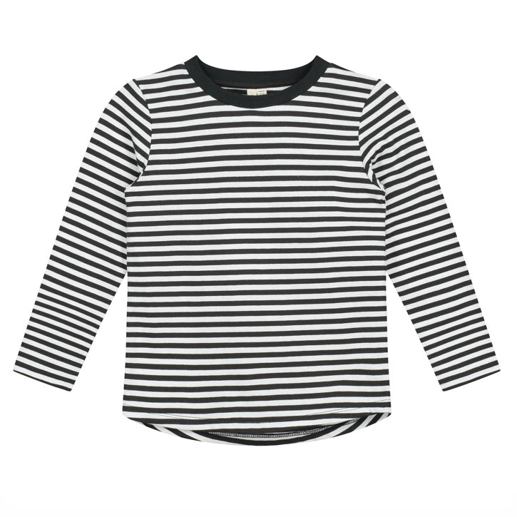 Gray Label L/S Tee - Nearly Black Stripe