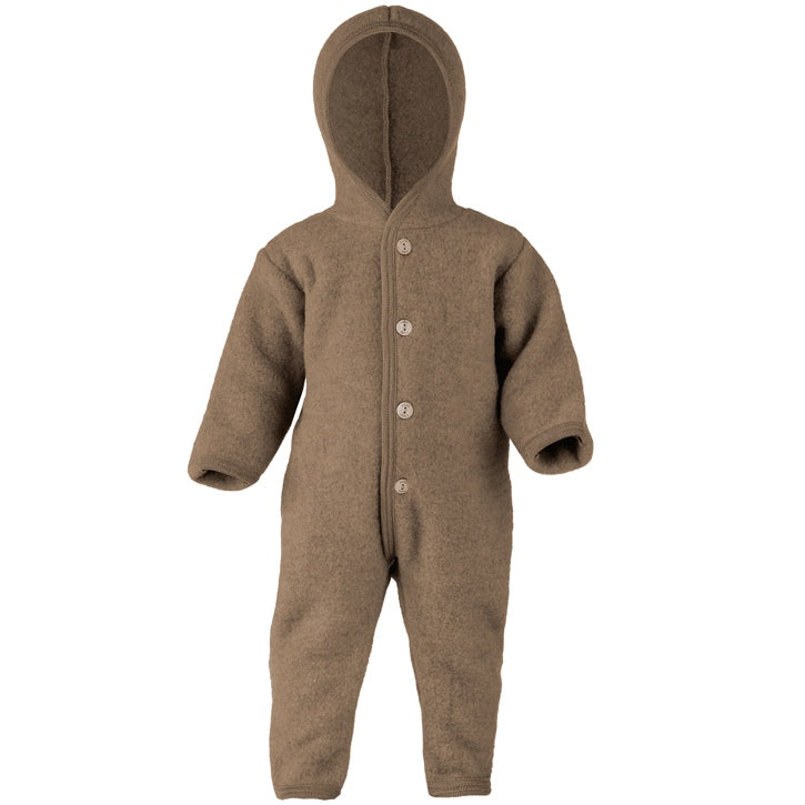 ENGEL Organic Merino Wool Fleece Suit - Walnut Mélange